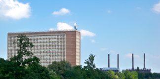 Wolfsburg, Lower Saxony, headquarters of Volkswagen AG. Photo by Vanellus Foto.