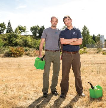 Author and SeQuential Co-Founder Ian Hill (left) is working alongside colleagues, including co-founder and SeQuential COO Tyson Keever (right), to encourage fleet managers to implement cleaner fuels.