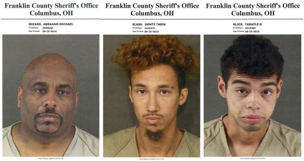 The three suspects who were arrested by the Franklin County Sheriff's Office are being arrained on Sept. 27.