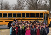 Teacher Vicki Challenger challenged her third-grade students to get involved in the legislative process. School bus seatbelts are the result of that educational experience. (Photo courtesy of Brian Linick)