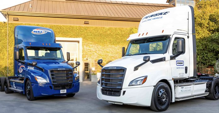 The Freightliner eCascadia and eM2 are part of Daimler Trucks' global electrified initiative.