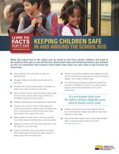 Ways to keep children safe in and around the school bus