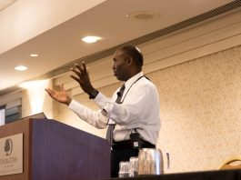 Larry Minor, FMCSA associate administrator for policy, discussed the FMCSA entry-level driver training rules with attendees of the 51st Annual NASDPTS Conference on Oct. 15, 2019. (Photo by Taylor Hannon.)