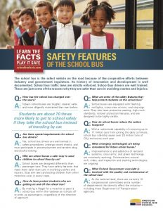 Q&A of Safety features around the school bus