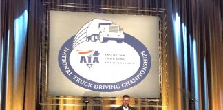 The FMCSA Administrator, speaking earlier this year to American Trucking Association members.