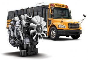 C2 and HDX buses are available with a Detroit DD5 or DD8 engine