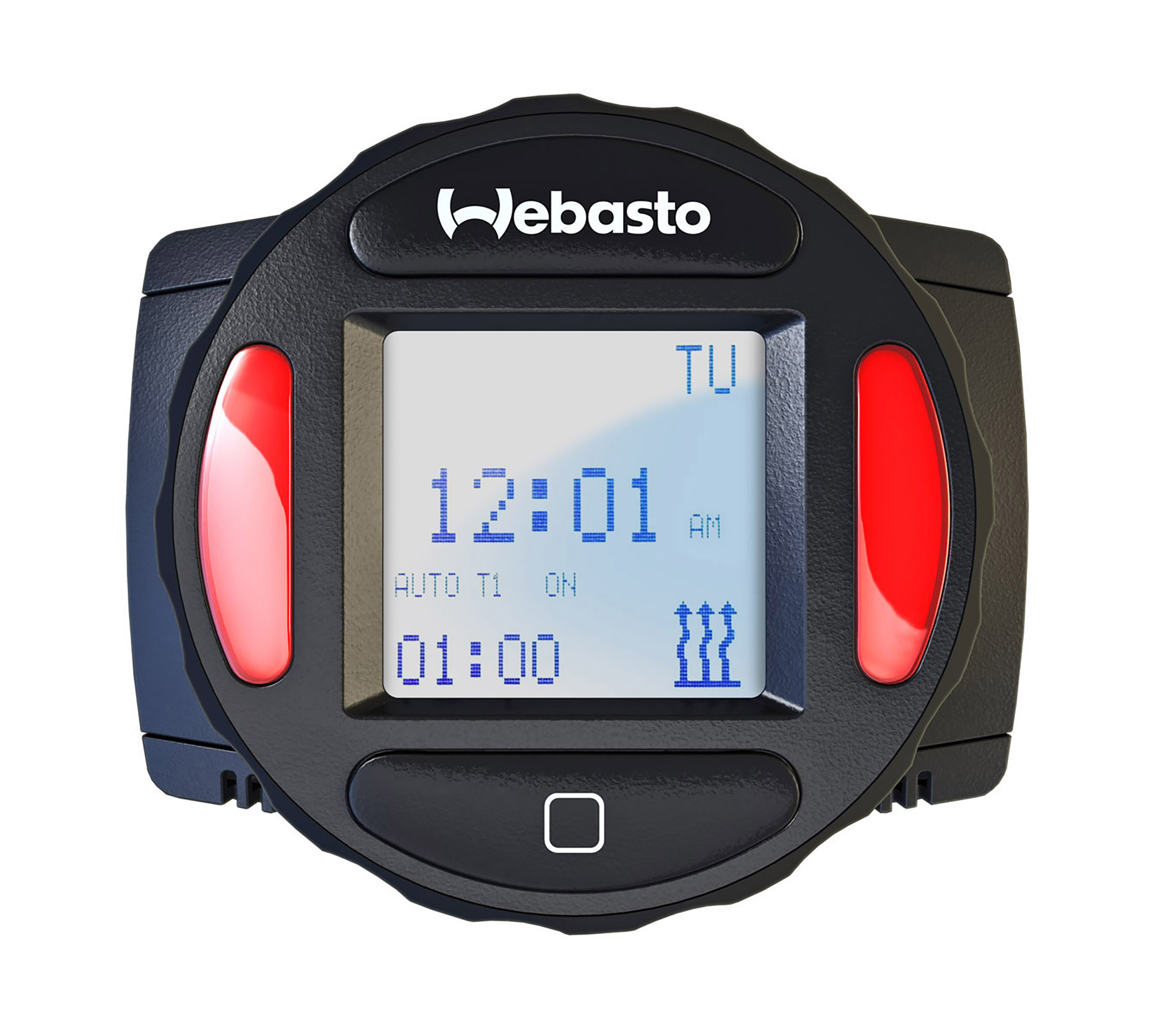 The Thermo Top Evo can be controlled manually or programmed to turn on in advance, via Webasto's SmarTemp Control fx 2.0, so the engine is pre-warmed when the driver arrives.