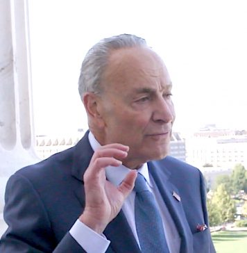 U.S. Senator Chuck Schumer (D-NY). The photo is a screen capture of a YouTube post from Nov. 9, 2019.