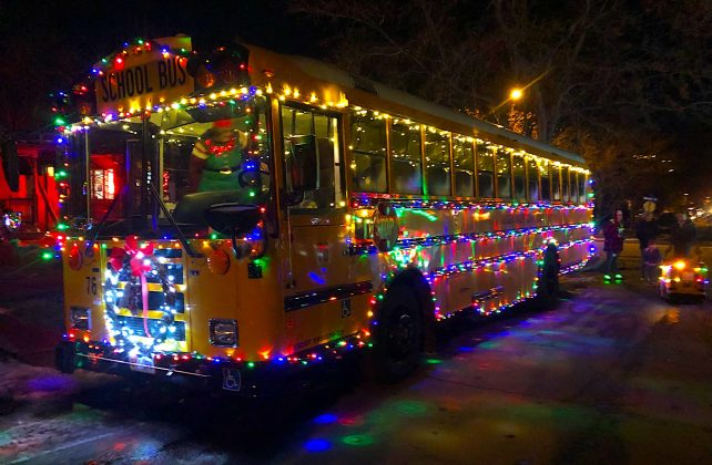 Eyewitnesses in Boulder swear they saw one of Santa's elves commandeer a school bus in this parade.