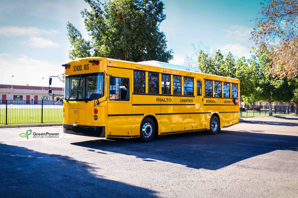 The Synapse Type D all-electric school bus is purpose-built, seats 72 kindergarten to grade 6 students, and has a range of over 100 miles on a single charge.