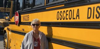 Glenda Klein, school bus driver at Osceola School District in Florida, retired on Dec. 20, 2019, after 46 years in the industry. Photo courtesy of Miguel Perez.