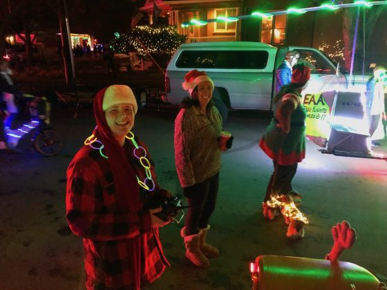 Philip May, transportation training specialist, Boulder Valley School District, submitted these photos of their school bus and employees decorated for some of the holiday light parades in Boulder.