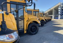 Temple ISD received eight new diesel IC school buses. Photo courtesy of Amy Scopac.