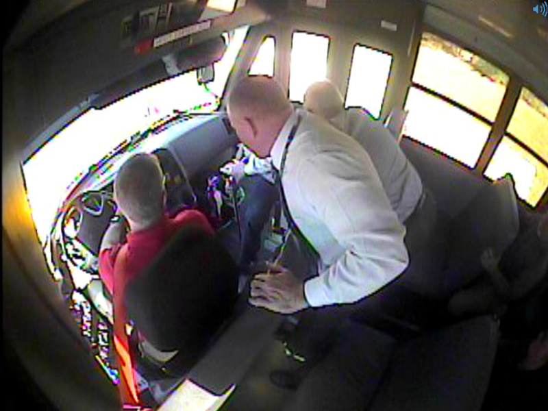 Kanawha County Schools transportation staff conduct in-service training that involves a scenario of a student bringing a gun on the school bus.