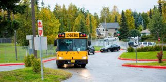 An Anchorage School District school bus. Photo courtesy Facebook/Anchorage School District.