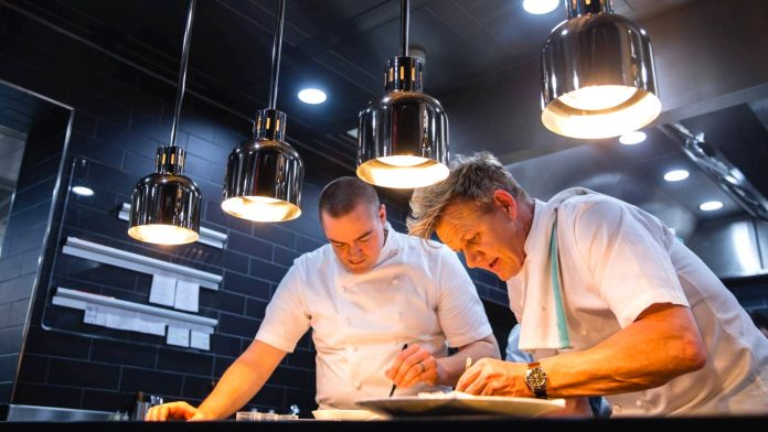 Michelin Master class with acclaimed restaurant owner, chef and TV host Gordon Ramsay. Photo source: Gordonramsayrestaurants.com.