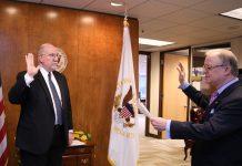 Thomas Chapman, new NTSB board member, was sworn in on Jan. 6 in Washington, D.C.