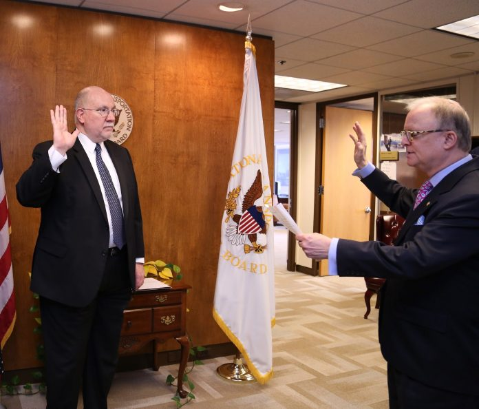 Thomas Chapman, new NTSB board member, was sworn in on Jan. 6 in Washington, D.C.
