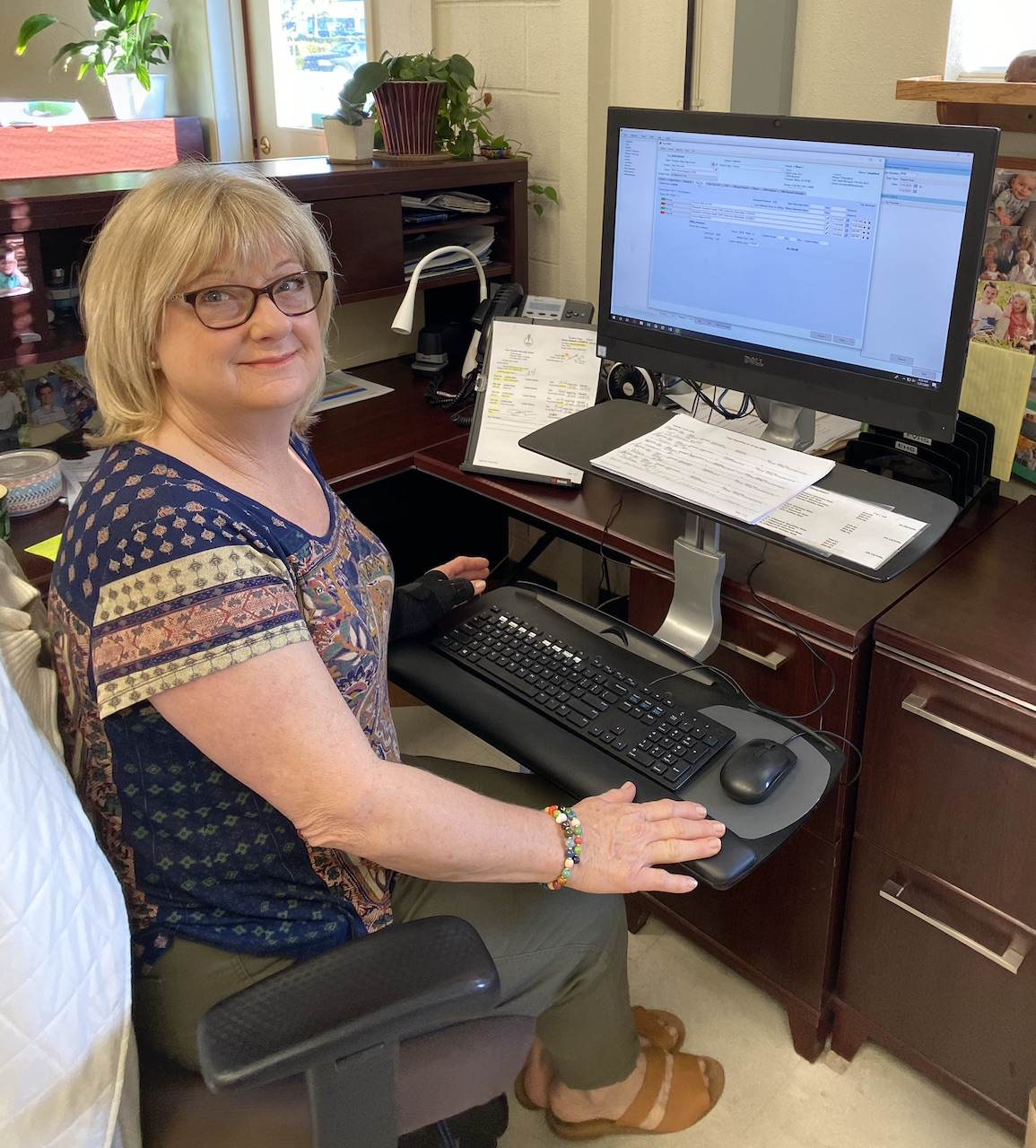 Pam Jameson, HBUHSD Administrative Secretary, is very happy with the busHive software.