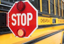 Chesapeake Public Schools is equipping its entire fleet of 583 school bus with stop-arm cameras to catch motorists who illegally pass the school bus. Photo courtesy of Chesapeake Public Schools.
