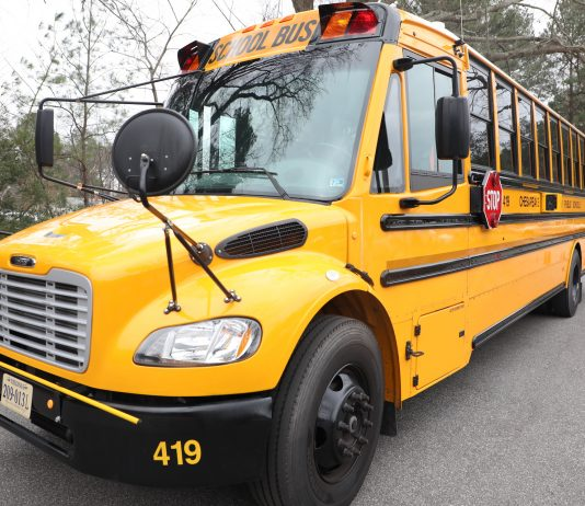 Chesapeake Public Schools is equipping its entire fleet of 583 school bus with stop-arm cameras in an effort to catch motorists who illegally pass stops. )Photo courtesy of Chesapeake Public Schools.)