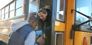 Schools are closed in Evergreen Public Schools in Washington state until April 24, due to the coronavirus outbreak. School bus operations have switched to delivering meals to students, to ensure they remain fed. (Facebook/Evergreen Public Schools)