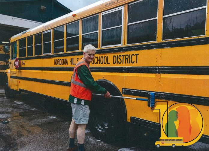 Albin Weiler started driving a school bus in 2001 at Cobb County School District in Georgia. He is a is now a self-published author, who tells the story of his daily school bus driving career near Cleveland.