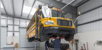 School bus inspections are one of the transportation related items Indiana Gov. Eric Holcomb provided flexibility to in his Executive Order 20-20 relating to the COVID-19 closures. Image courtesy of Stertil Koni.