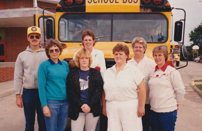 Anita CSD transportation staff in 1988.