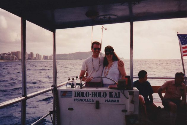 Max and Lisa Christensen on their honeymoon in Hawaii in 1993.