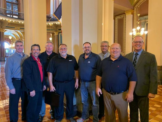 Moments after getting the lap/shoulder belt regulation approved at the Iowa State Capitol in September 2019.