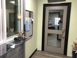 Springdale Public Schools underwent a remodel in June to make its transportation office more conducive to social distancing. (Photo courtesy of Trisha Labit.)