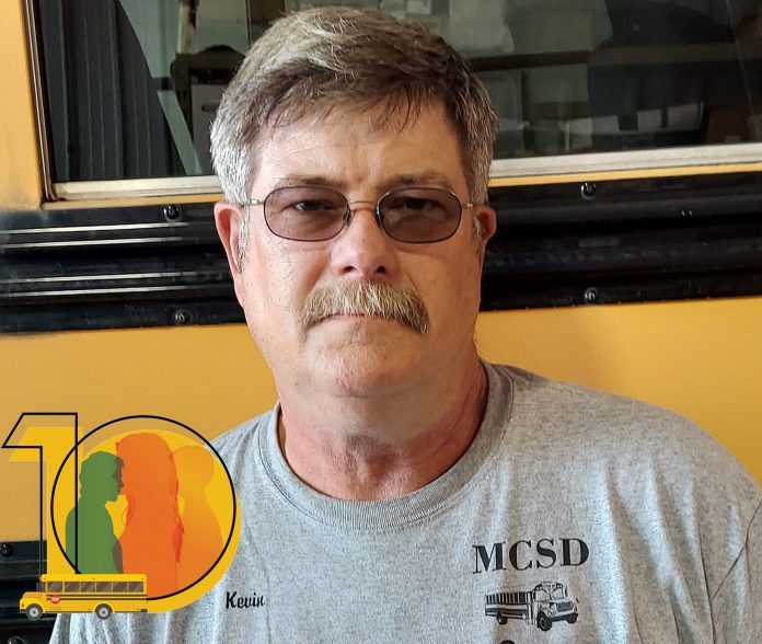 Kevin Beye, head transportation mechanic for Marshalltown Community School District has almost 43 years in pupil transportation.