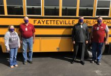 Transportation staff at Fayetteville Public Schools in Arkansas has been transporting students since school started on Aug. 24.