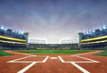 modern public sport building 3D render background