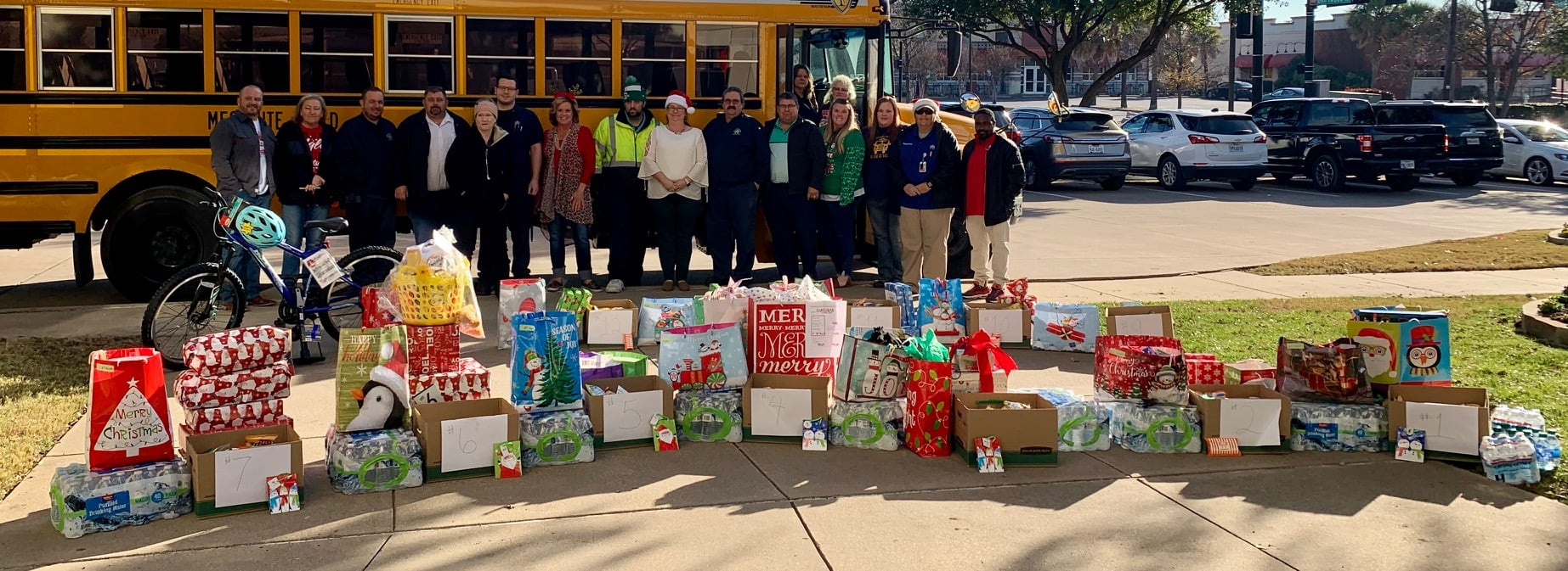 Mesquite ISD during its 2019 Toy Drive