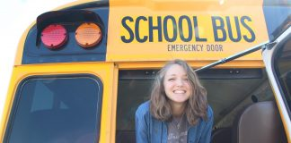 Faith Smith, a 21-year-old bus driver for Searcy Public Schools in Arkansas, works part-time while attending school at nearby Harding University.