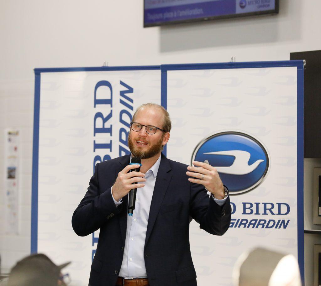 Steve Girardin, President of Micro Bird by Girardin