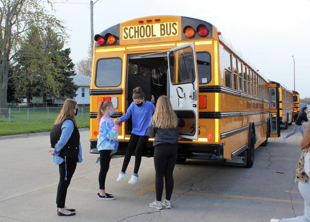 Middle school teacher Elizabeth White helps lead emergency evacuation drills (Image courtesy of Bondurant-Farrar Middle School)