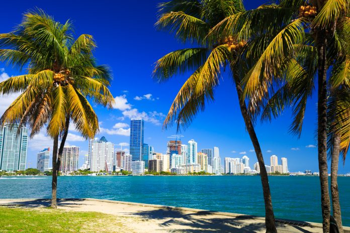 The Miami Beach skyline. Stock photo.