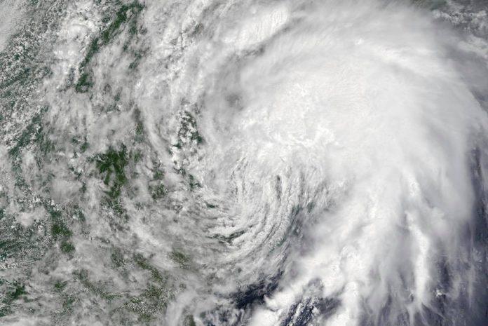 NASA imagery shows Tropical Elsa moving up the Atlantic Coast on July 8, 2021.