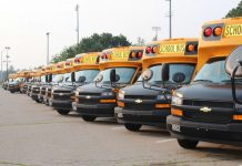 The first round of the Brockton Public Schools' 45 new 29-passenger buses were delivered on Monday, July 19, 2021.