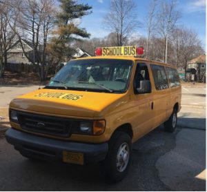 """A 7D school van is regulated in Massachusetts to provide fixed route transportation for not more than eight """"school pupils. (Source: Registry of Motor Vehicles.)"""