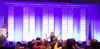 Lori Desautels, Ph.D, speaks to STN EXPO Indianapolis attendees during a general session on Sunday, Oct. 3, 2021.